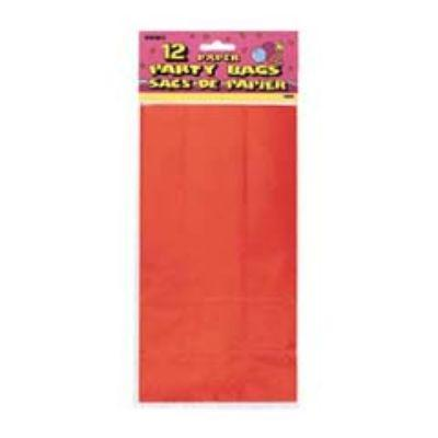Red Paper Sacks 12 Pack