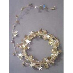 Star Metallic Gold Wire Garland