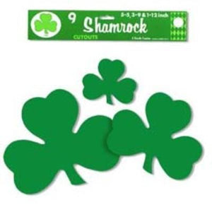 "Shamrock Cutout 5"" - 9 Pack"