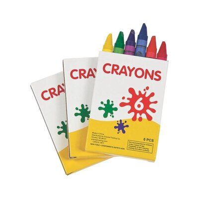 Color Crayons 6 Count - 48 Pack