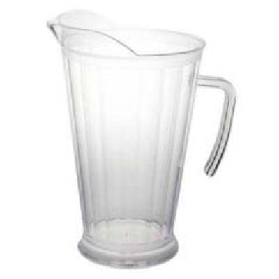 Crystal Clear Plastic Pitcher