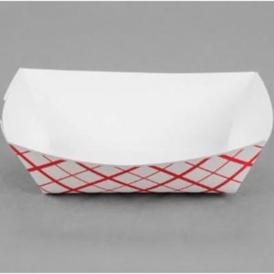 Red Plaid Paper Food Trays - 10 Pack
