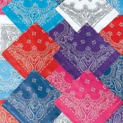 Western Single Bandanna - Assorted Colors