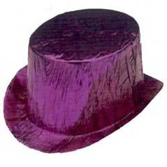 Purple Cellophane Top Hat