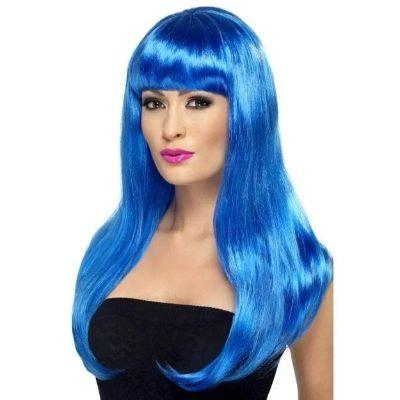 Blue Babelicious Long Wig
