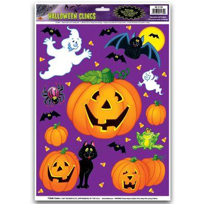 Jack-O-Lantern Patch Window Cling
