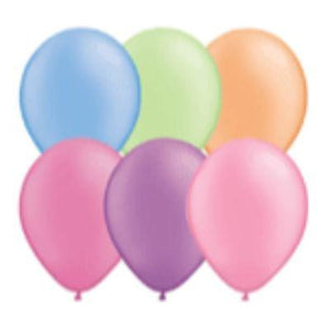 "Neon Assorted Colors Latex Balloons 11"" - 100 Pack"