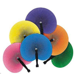"Fan Paper Fold Color 5"" Pk12"