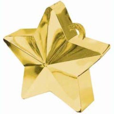 Gold Star Balloon Weight