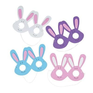 Foam Bunny Eyeglasses Assortment - 12 Pack