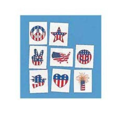 Patriotic Tattoos - 36 Pack