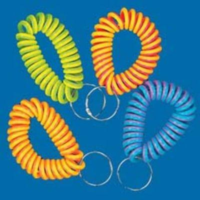Neon Coil Keychain 12 Pack