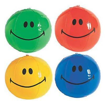 Inflatable Smiley Face Beach Balls 7