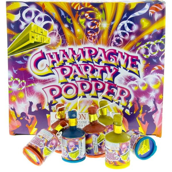 Champagne Party Popper - 72 Pack