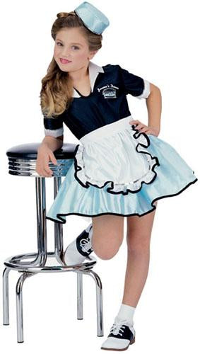 1950'S Car Hop Girl Child Costume