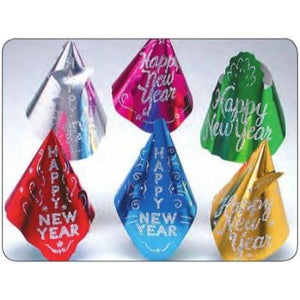 New Year's Glitter Foil Hat - Assorted Colors