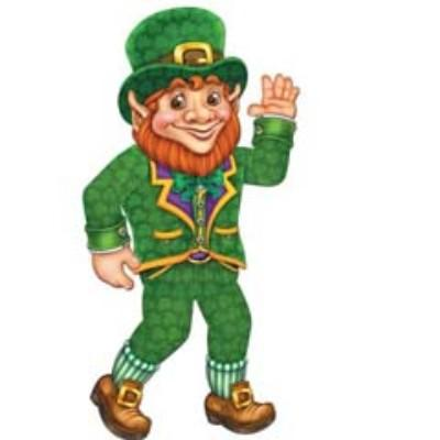 Leprechaun Jointed Cutout 33