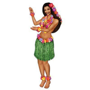 CUTOUT JNTD HULA GIRL 38""