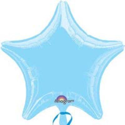 Solid Pastel Blue Star 18