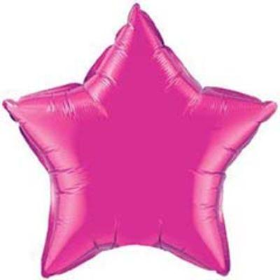 Solid Fuchsia Star Mylar Balloon 18