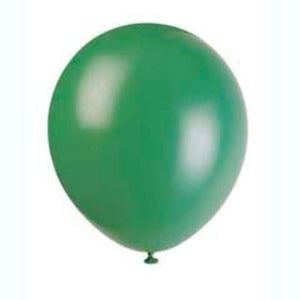 "Deep Forest Green Latex Balloons 12"" - 10 Pack"