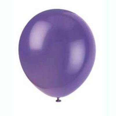 Amethyst Purple Latex Balloons 12