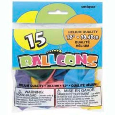 Latex Balloons Assorted Colors 12