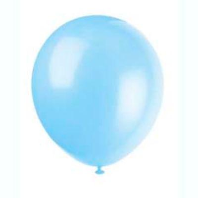 Baby Blue Latex Balloons 12