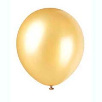 Pearlized Gold Latex Balloons 12