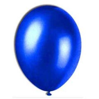 Pearlized Sapphire Blue Latex Balloons 12