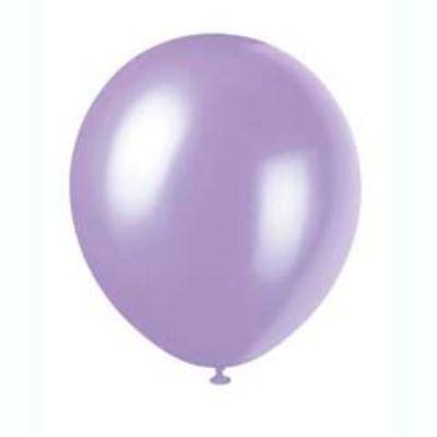 Pearlized Dusty Lavender Latex Balloons 12