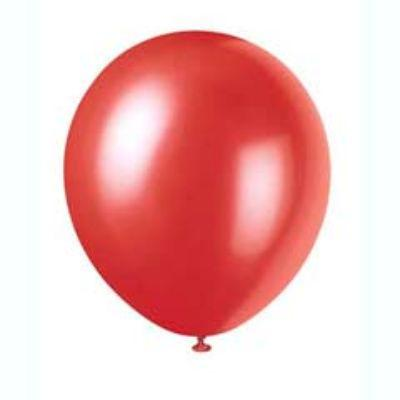 Pearlized Frosted Red Latex Balloons 12
