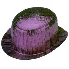 Purple Cellophane Derby Hat