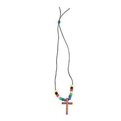 Cross Necklace Craft Kit 12 Pack