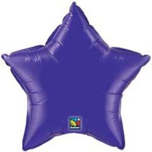 "Solid Purple Star 18"" Mylar Balloon"