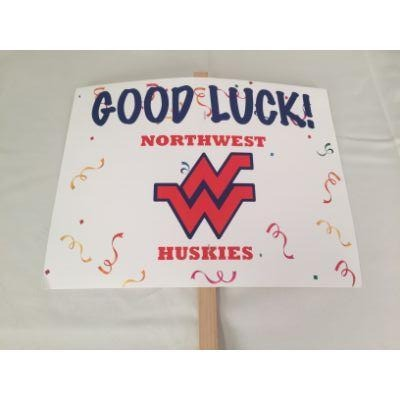 Omaha Northwest Huskies Good Luck Yard sign 14
