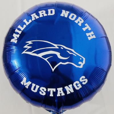 Millard North Mustangs Blue Mylar Balloon 18