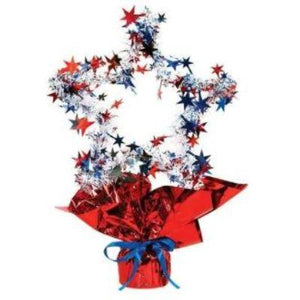 Red White & Blue Star Shaped Centerpiece 11""