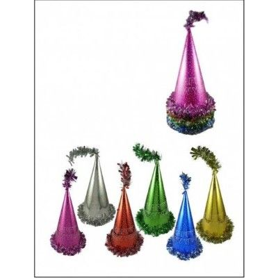 New Year's Party Cone Hat - Assorted Colors