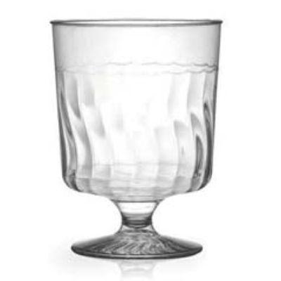 Clear 5.5oz Plastic Wine Glass 10 Pack