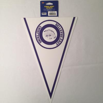Bellevue East Chieftains Pennant Cutout 14