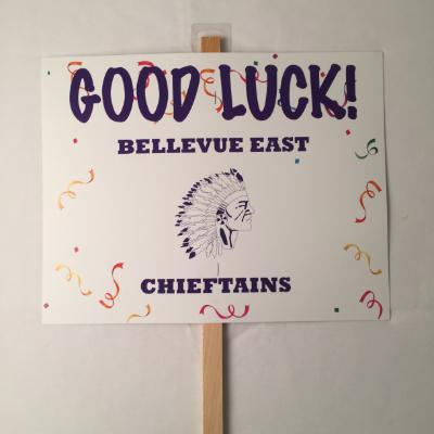 Bellevue East Chieftains Yard Sign 14