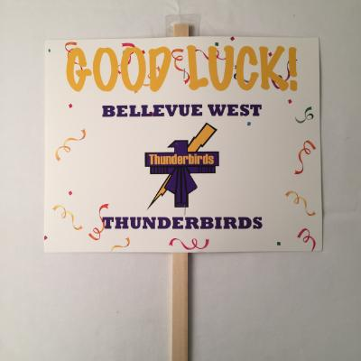 Bellevue West Thunderbirds Yard Sign 14