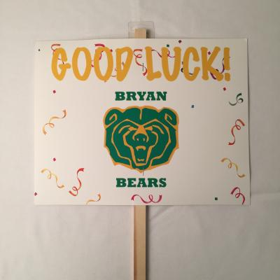 Bryan Bears Yard Sign 14