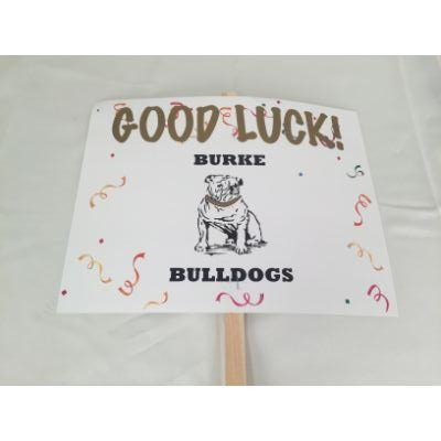 Burke Bulldogs Good Luck Yard sign 14