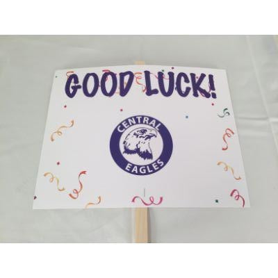Omaha Central Eagles Good Luck Yard sign 14