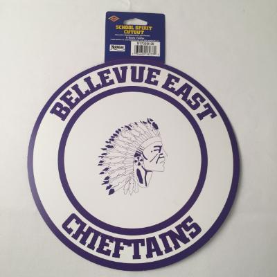 Bellevue East Chieftains Circle Cutout 14