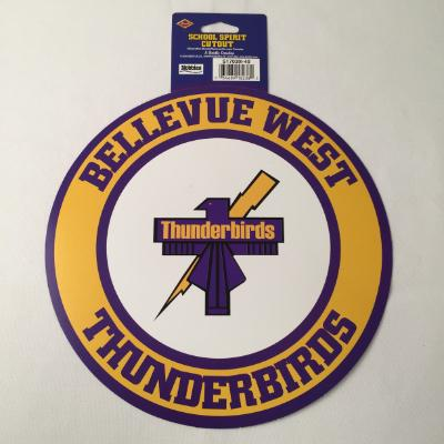 Bellevue West Thunderbirds Circle Cutout 14