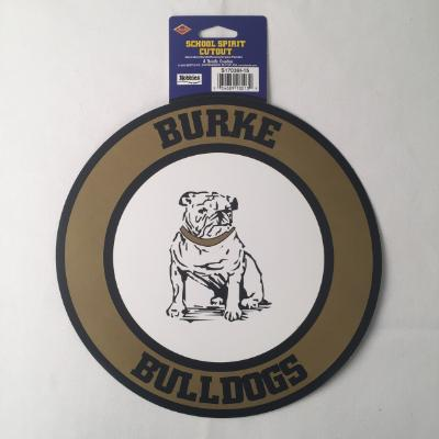 Burke Bulldogs Circle Cutout 14