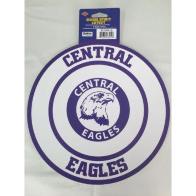 Omaha Central Eagles Circle Cutout 14